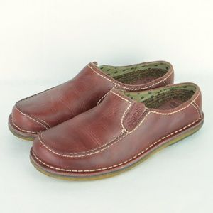 Simple Brand Clogs Leather Slip-On Shoes size 9